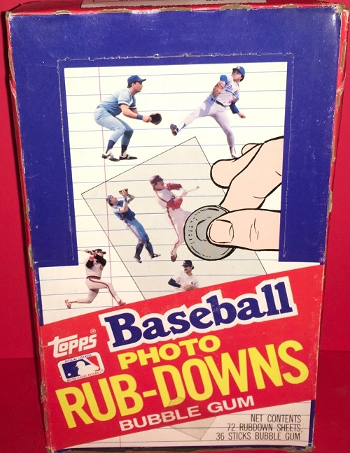 1984 Topps Baseball Photo Rub-Downs