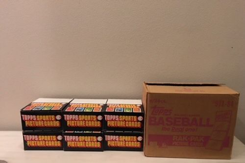 1984 Topps Baseball Unopened Rack Pack Box