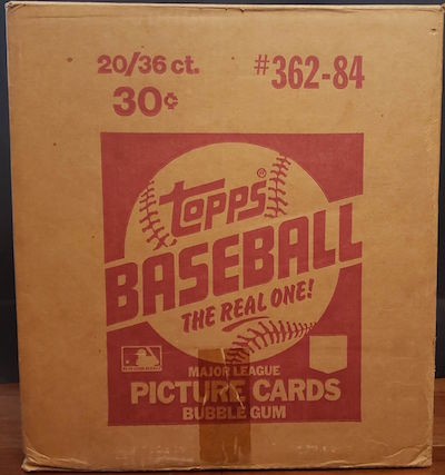1984 Topps Baseball Unopened Wax Case