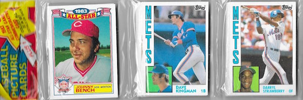 1984 Topps Rack Pack Johnny Bench Dave Kingman Darryl Strawberry Rookie