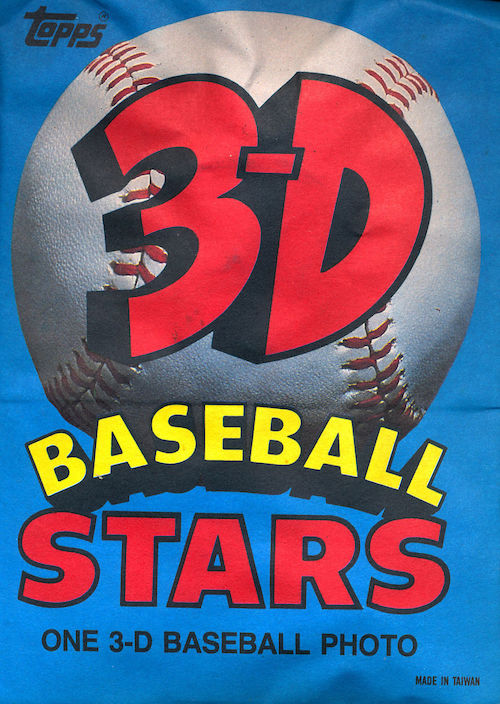 1985 Topps 3-D Baseball Stars Unopened Packs