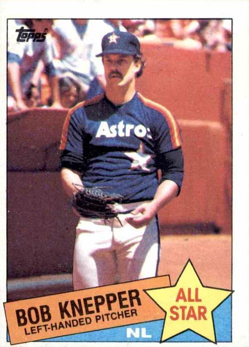 1985 Topps All-Star Bob Knepper