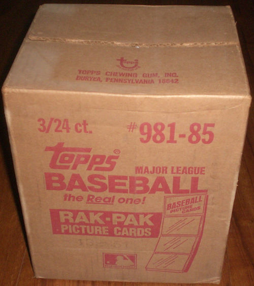 1985 Topps Baseball Sealed Rack Case
