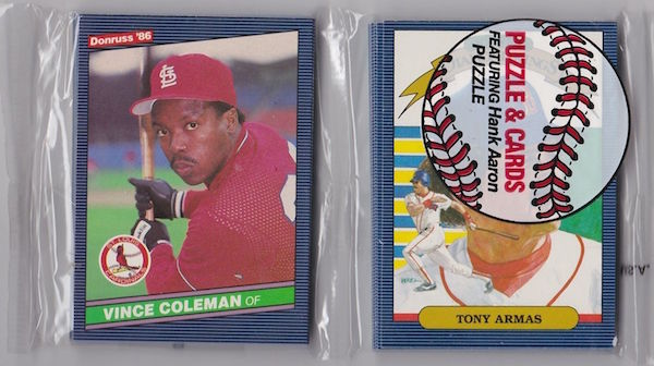 1986 Donruss Rack Pack Vince Coleman