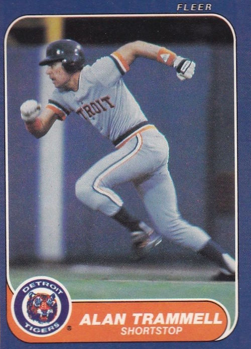 1986 fleer alan trammell