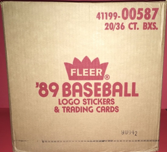 1989 Fleer Baseball 20-Box Wax Case (Billy Ripken F-Face Error Series)