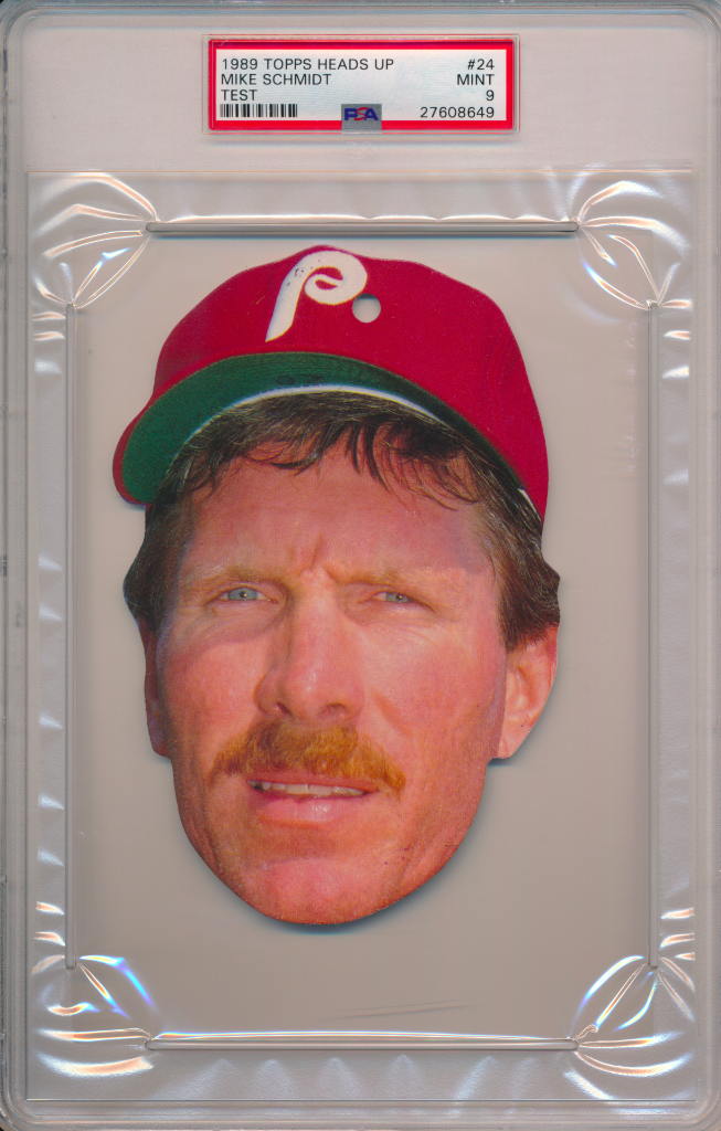 1989 Topps Heads Up Test Issue Mike Schmidt