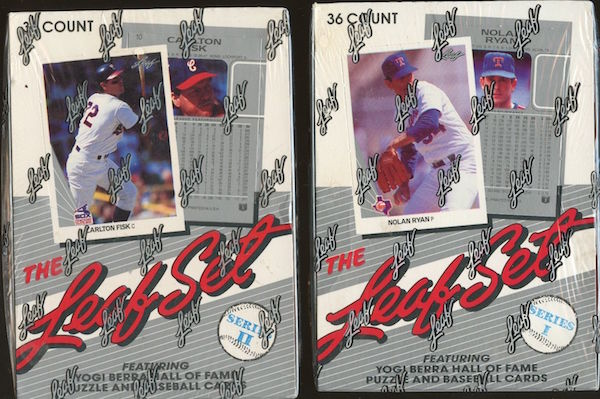 1990 Leaf Series 1 & 2 Unopened Boxes