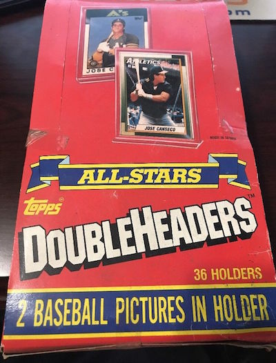1990 Topps Doubleheaders Unopened Box