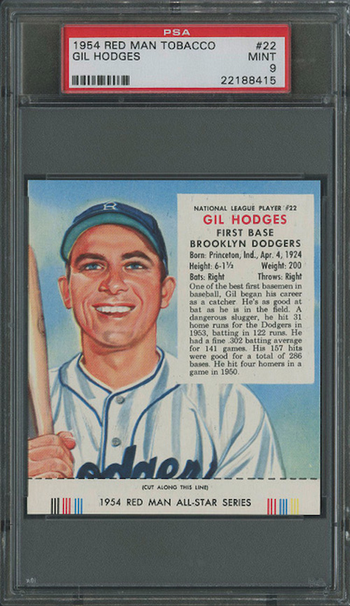 1954 Red Man Tobacco Gil Hodges