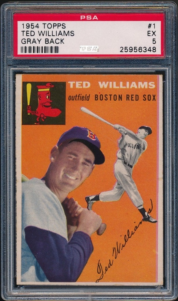1954 Topps Ted Williams (#1) - PSA 5