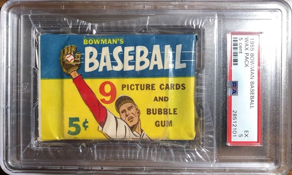 1955 Bowman Baseball 5-Cent Unopened Pack