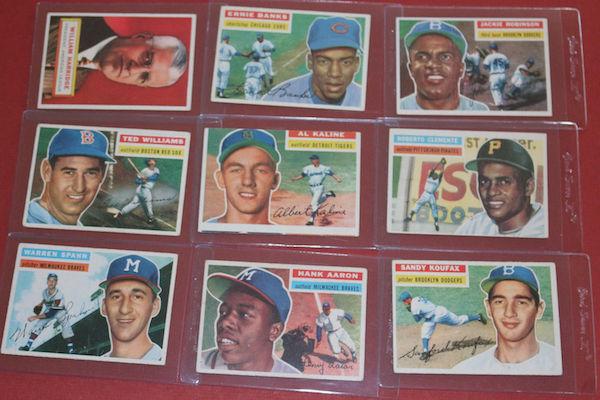 1956 Topps Baseball Cards Complete Set