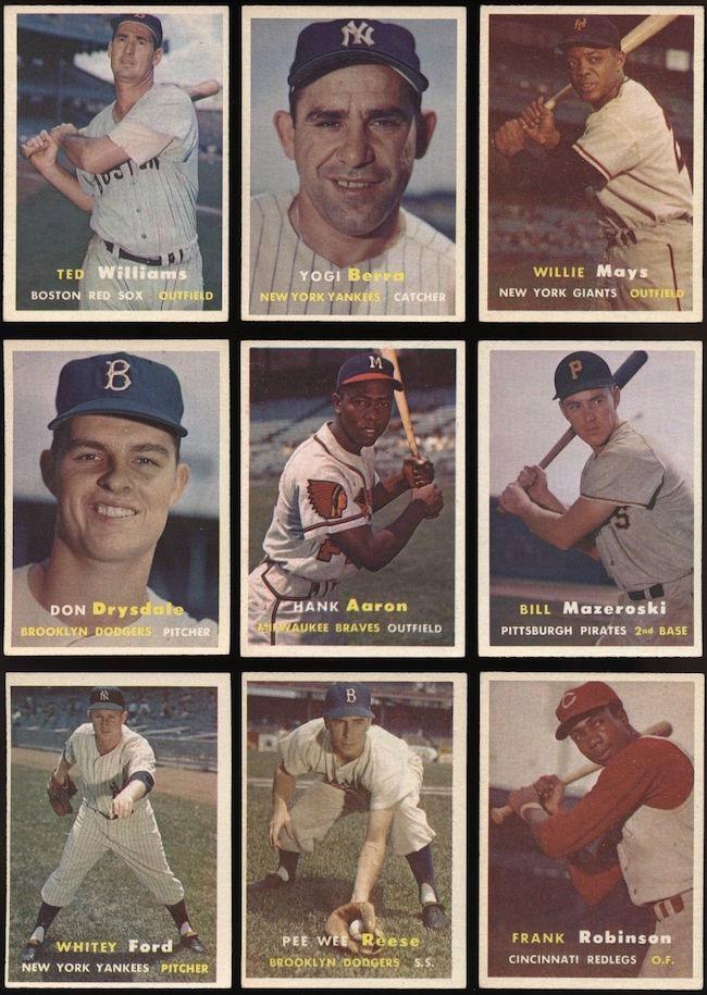 1957 Topps Baseball Cards Complete Set