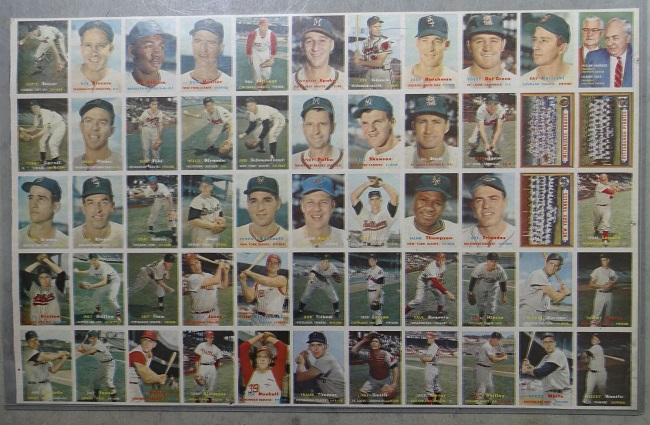 1957 Topps Baseball Uncut Sheet