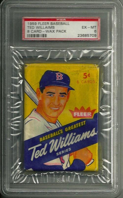 1959 Fleer Ted Williams Unopened Wax Pack