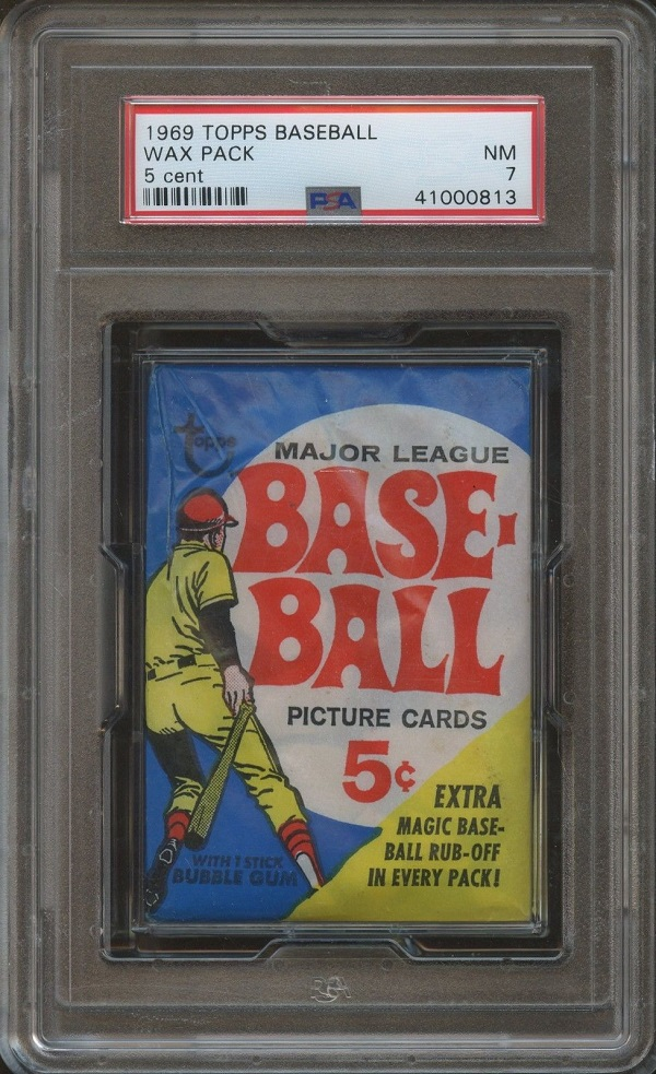 1969 Topps Baseball Unopened Wax Pack