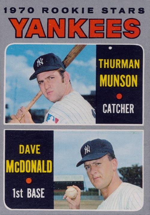 1970 Topps Thurman Munson Rookie Card