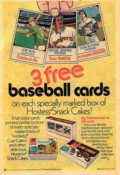1975 Kellogg's Baseball Cards Ad