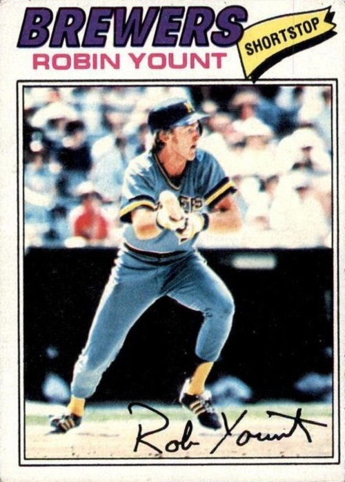 1977 topps Robin Yount