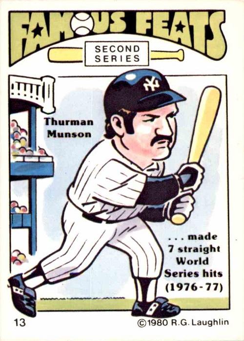 1980 Laughlin Famous Feats Thurman Munson
