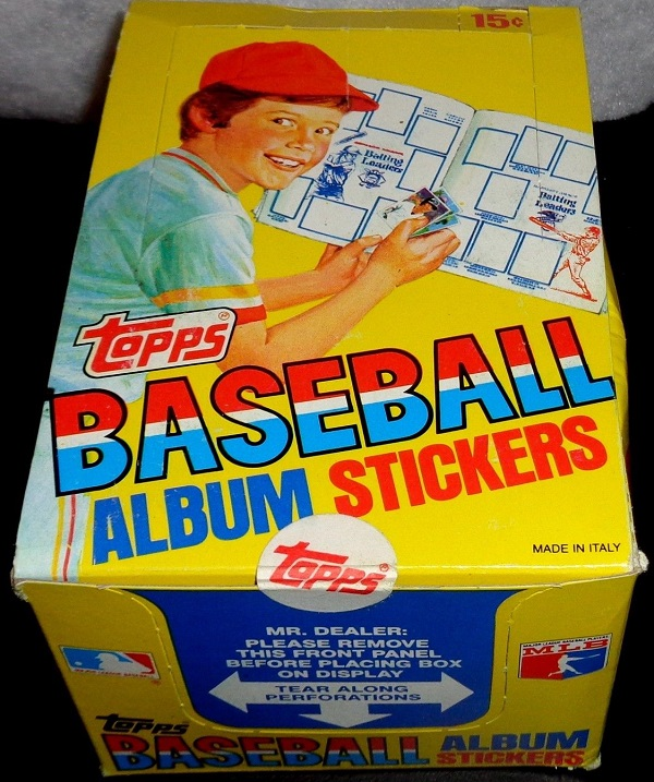 1981 Topps Baseball Stickers Unopened Box