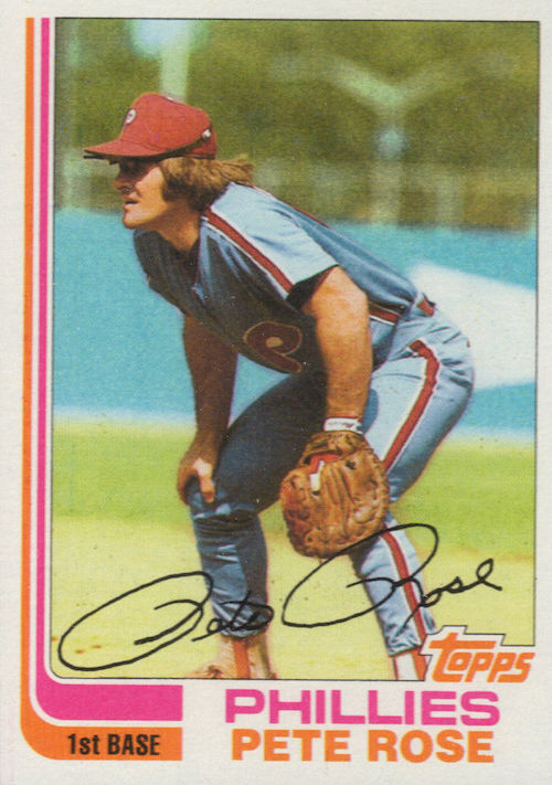 1982 topps Pete Rose