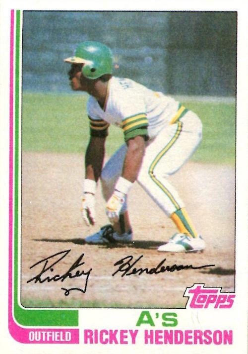 1982 topps Rickey Henderson