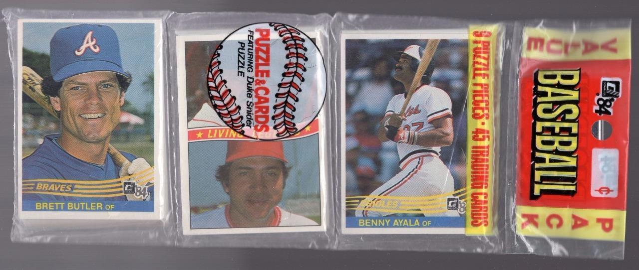 1984 Donruss Rack Pack Bench Yaz