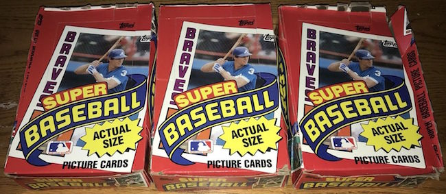 1984 Topps Super Unopened Boxes