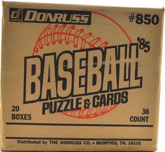 1985 Donruss Baseball Unopened Wax Box Case