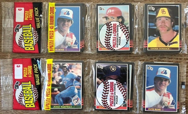 1985 Donruss Rack Packs with Pete Rose on Front (2)