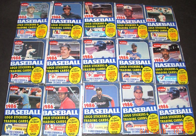 1986 Fleer Cello Packs