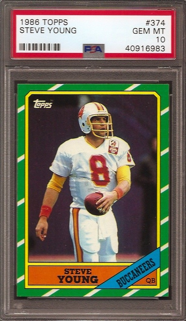 1986 Topps Steve Young Rookie Card