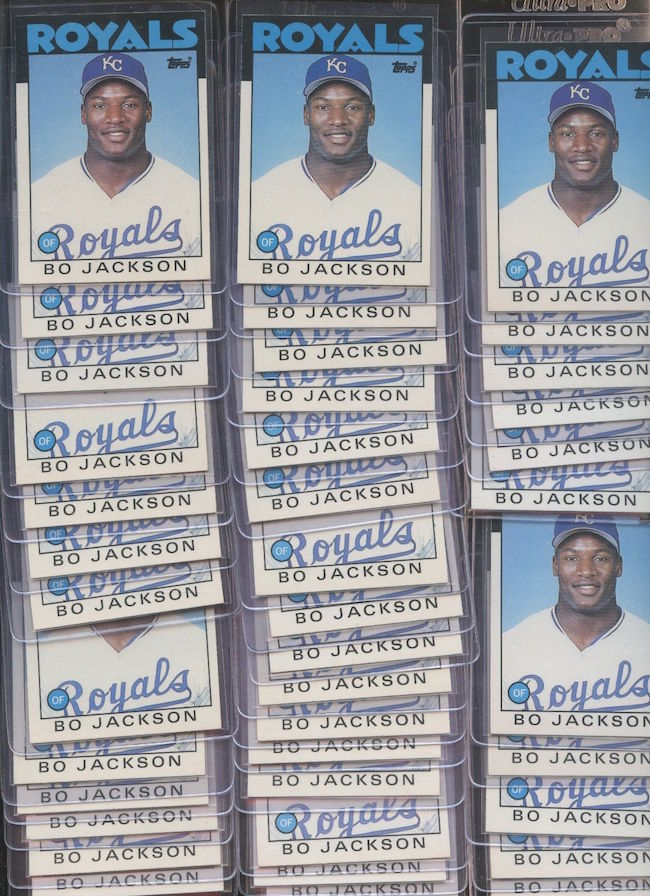 1986 Topps Traded Tiffany Bo Jackson Rookie Cards