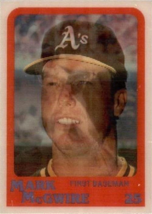 1987 Sportflics Rookies Mark McGwire rookie card
