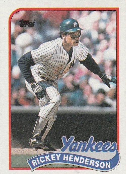 1989 topps rickey henderson