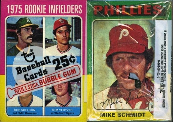 1975 topps unopened cello keith hernandez mike schmidt
