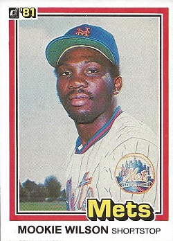 1981 Donruss Mookie aWilson
