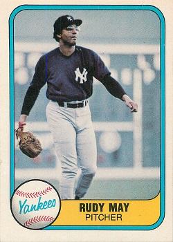 1981 Fleer Rudy aMay
