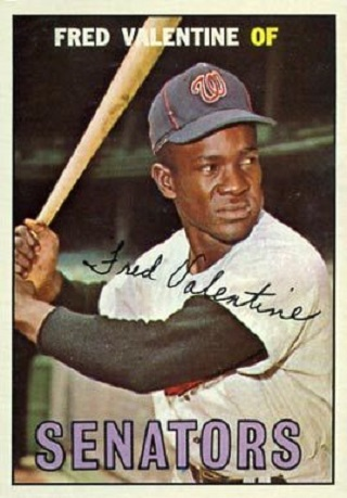 1967 Topps Fred Valentine