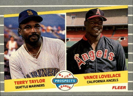 1989 Fleer Vance Lovelace Terry Taylor