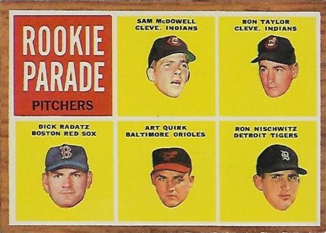 1962 Topps Rookie Parade Sam McDowell