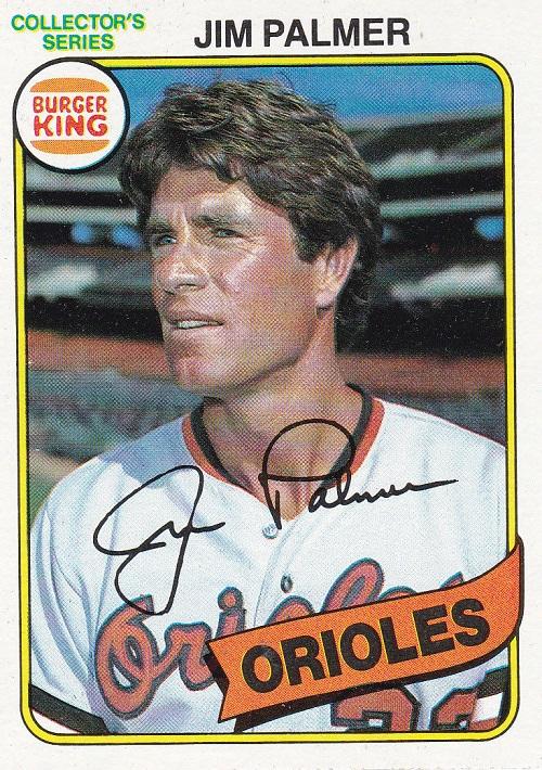 1980 Topps Burger King Jim Palmer