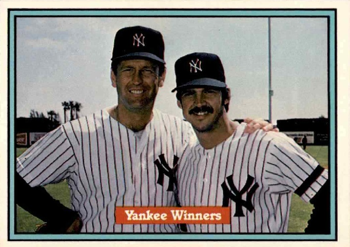 1982 Donruss Yankee Winners Tommy John Ron Guidry