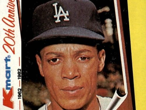 I'd Give My Foote for a 1982 Topps Kmart Maury Wills Baseball Card