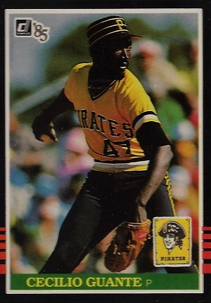 Cecilio Guante Starts And Stops With A 1990 Leaf Baseball