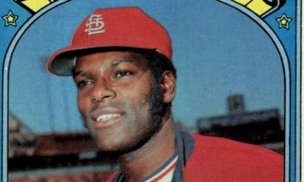1972 Topps Bob Gibson Needs Time to Warm Up