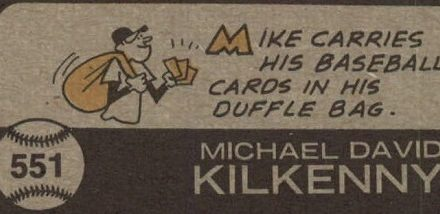 1973 Topps Mike Kilkenny Takes Us 'Back' Home