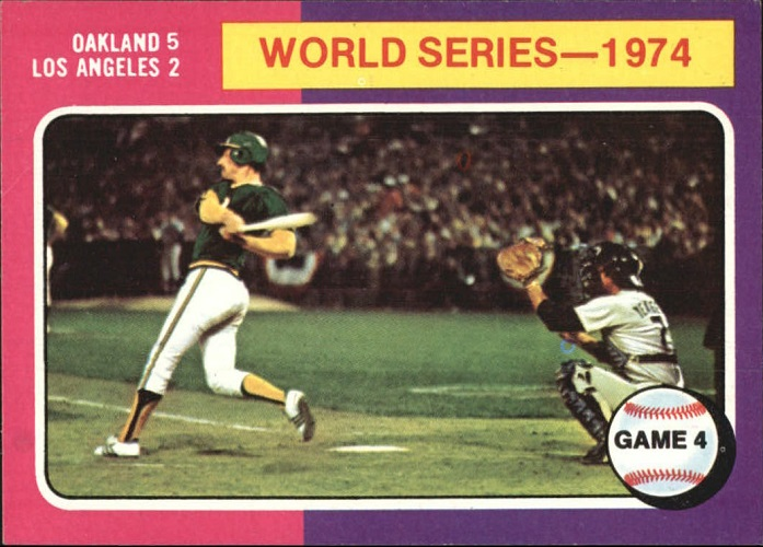 1975 Topps World Series - 1974 Game 4 Ken Holtzman